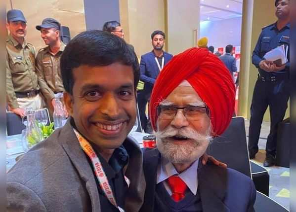 गोपीचंद के साथ बलबीर सिंह सीनियर