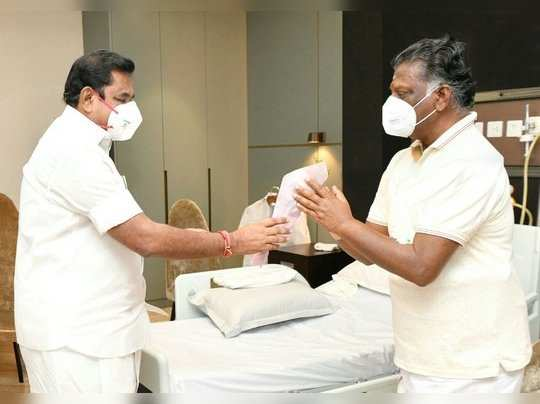 o panneerselvam admitted in hospital