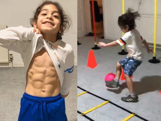 6 साल के इस लड़के की बॉडी, फुटबॉल और फुर्ती देख आप भी हो जाएंगे हैरान!