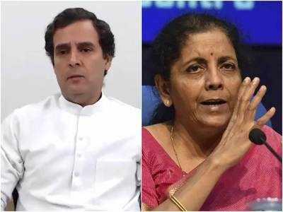निर्मला ने कहा था कि राहुल ने मजदूरों से मुलाकात कर उनका वक्त खराब किया।