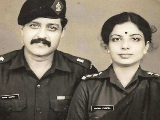 priyanka chopra mother madhu chopra was also an army officer like his father ashok chopra a picture revealed in the uniform