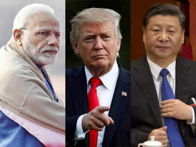 पीएम मोदी, राष्ट्रपति ट्रंप और राष्ट्रपति शी।