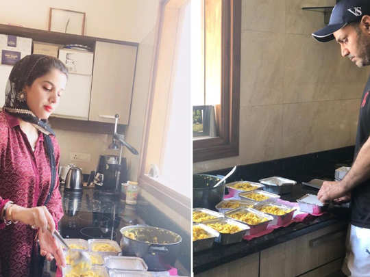 virender sehwag turns cook for migrants, prepares home food with family amid covid-19 lockdown