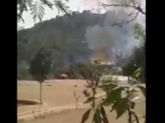 ट्रक में लगी भीषण आग