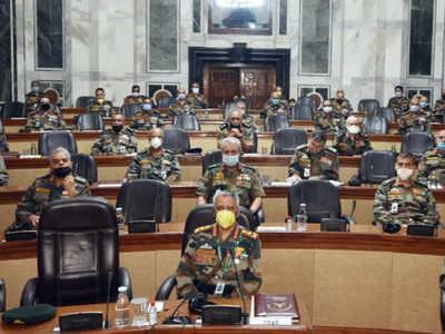 सैन्य कमांडरों का सम्मेलन।