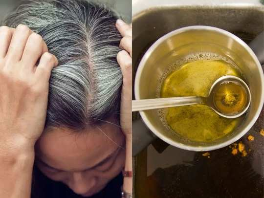 magical diy hair oil to change white hair to black naturally