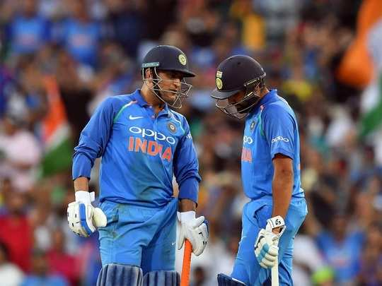 MS Dhoni and Rohit sharma ODI India