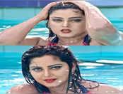 पूल में अंंजना सिंह का पानी में आग लगा देने वाला डांस,प्रमोद प्रेमी भी दिखे साथ