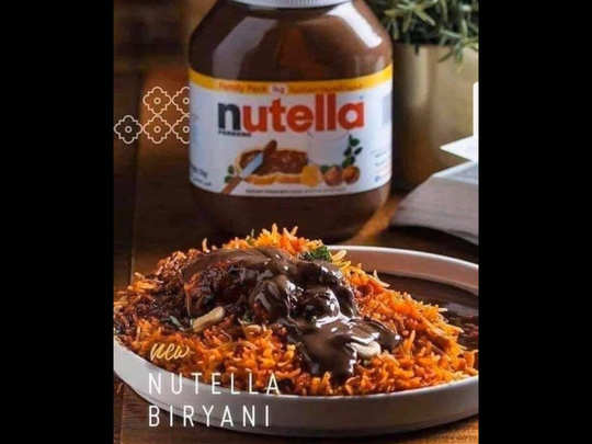 Nutella Biriyani (PC: Muslim Memes)