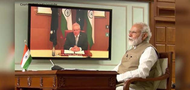प्रधानमंत्री नरेंद्र मोदी और ऑस्ट्रेलिया के पीएम स्कॉट मॉरिशन के बीच वर्चुअल समिट, कोरोना पर हुई चर्चा