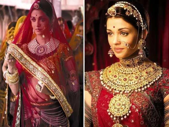 jodha akbar movie 200 kg real gold jewellery was designed for aishwarya rai in marathi