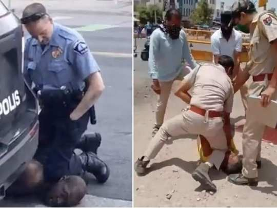 cop assaults man while kneeling on his neck, india's george floyd moment