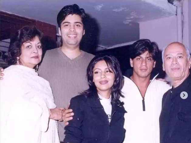 Karan Johar shared old photos