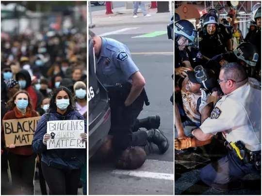 george floyd death anti racism demonstrations across us, uk and australia