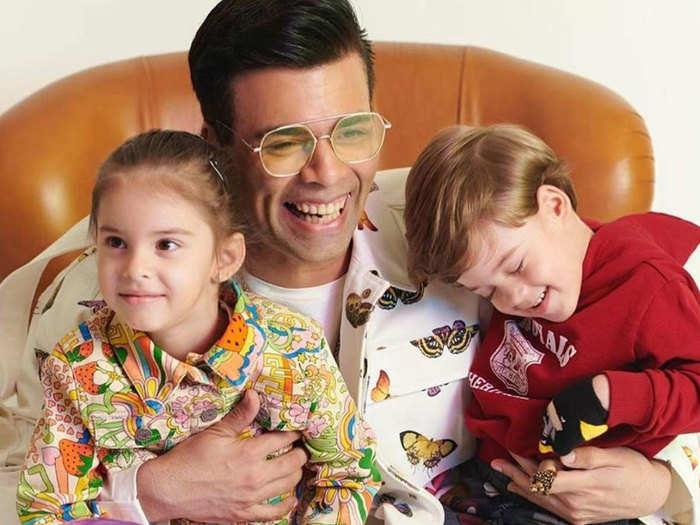 बच्चों के साथ करण जौहर