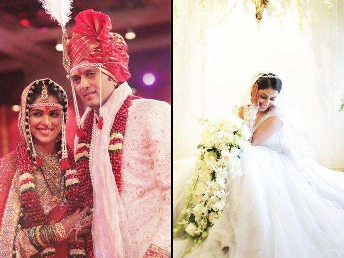 मेहंदी से लेकर संगीत, महाराष्ट्रीयन शादी से लेकर क्रिश्चियन वेडिंग तक कुछ ऐसा था जेनेलिया डिसूजा का ब्राइडल लुक