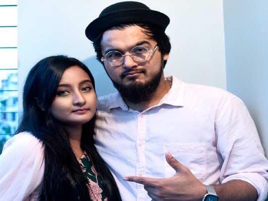Bangladeshi Singer Noble With Wife