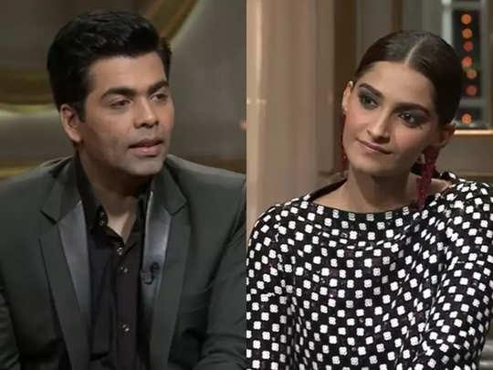 Karan Johar And Sonam Kapoor