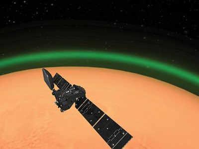 मंगल पर दिखी चमक