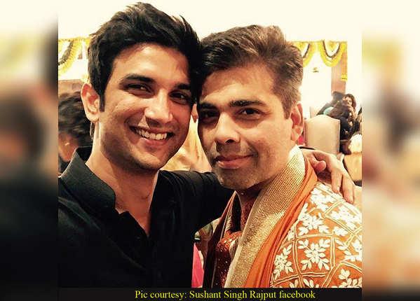 Sushant with Karan Johar