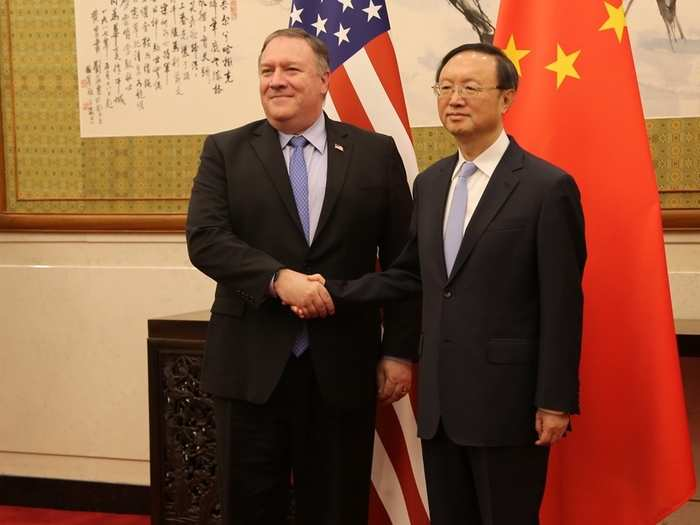 Mike Pompeo and yang jiechi