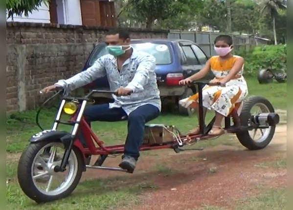 कोरोना काल में सोशल डिस्टेंसिंग वाली साइकल आ गई है