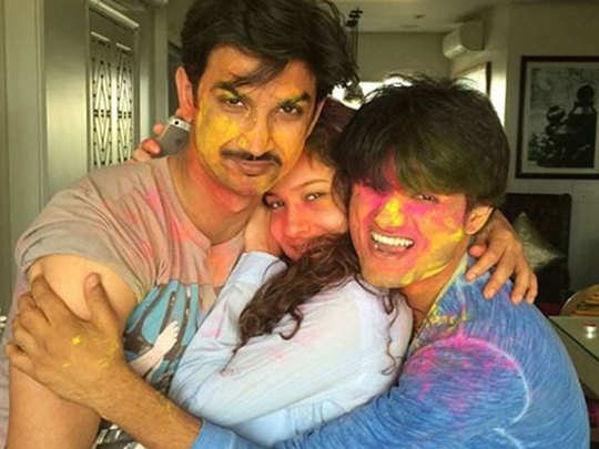 sandip ssingh with susshant and ankita lokhande