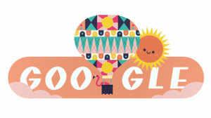 Google ने उत्तरी गोलार्द्ध में ग्रीष्टमकालीन संक्रांति के जश्न में बनाया आज का डूडल