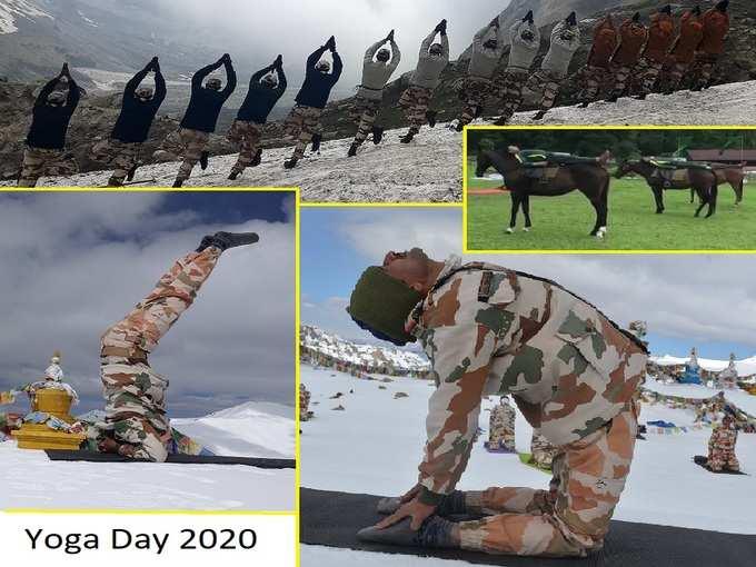 Yoga Day 2020: ఎముకలు కొరికే చలి, 18 వేల ఫీట్ల ఎత్తులో సైన్యం యోగాసనాలు