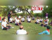 भरतपुर में नेचर वॉक और योग के साथ  शुरू किया Covid -19  अवेयरनेस प्रोग्राम