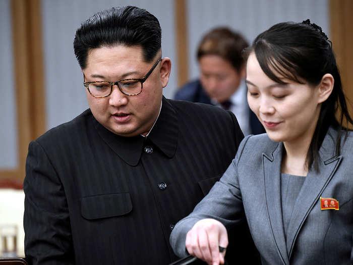 Kim Jong Un and his sister Kim Yo Jong