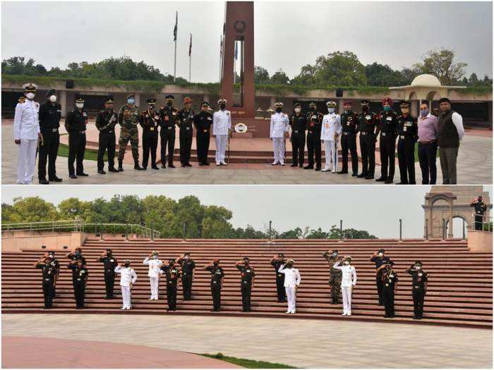 tributes to colonel santosh babu at national war memorial delhi