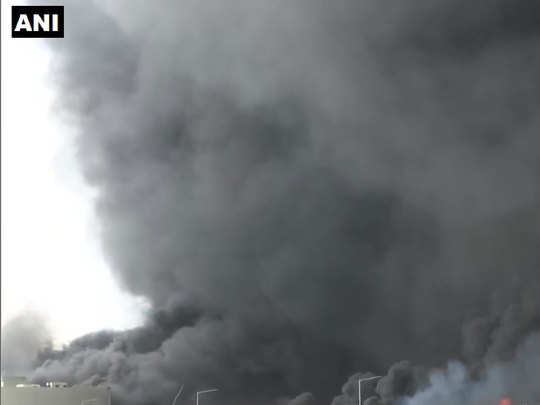 massive fire breaks out at gidc factory in ahmedabad gujarat