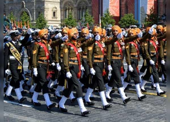 भारतीय सेना के दल ने किया मार्च पॉस्ट