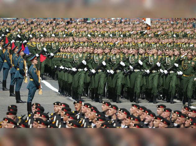 विक्ट्री डे पर रूस में भारतीय सैन्य दल ने लिया भाग