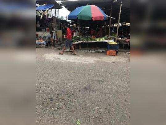 Upendra Nagar bhaji market Surksha vyavastha nahi
