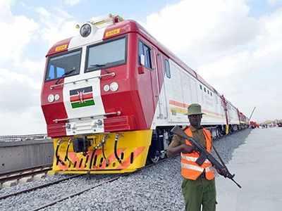 केन्या में चीन का बनाया रेलवे ट्रैक