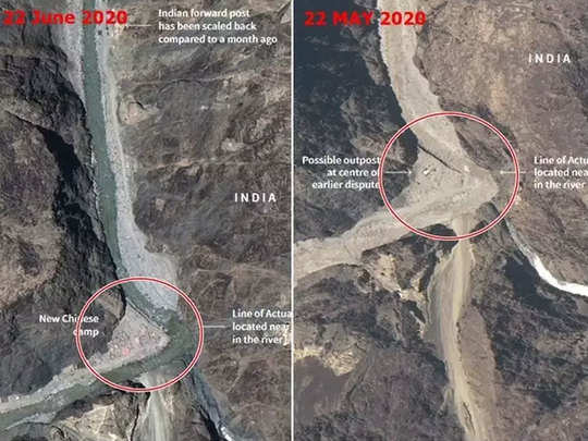 india china tension china built new structures near site of galwan valley and ladakh