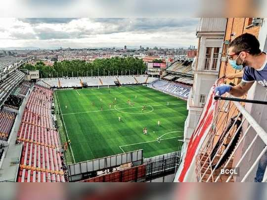 Post Edit on closed door stadium match amid lockdown