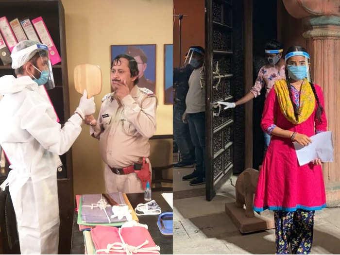happu ki ultan paltan and gudiya hamari sabhi pe bhari resume shoot amid coronavirus pandemic and unlock 1 view pics