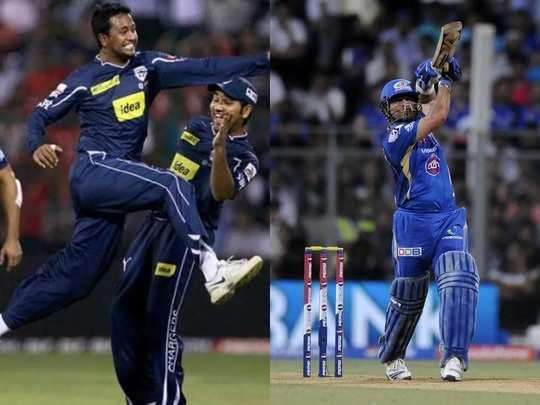 Pragyan Ojha and Sachin Tendulkar IPL