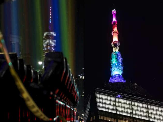 50वें Gay Pride Parade पर नहीं Coronavirus का असर, इंद्रधनुषी रोशनी में नहाया न्यूयॉर्क