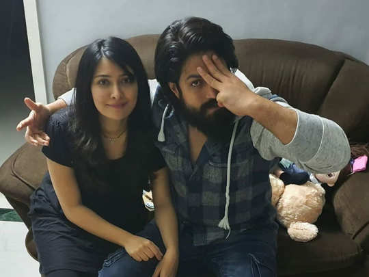 Yash with wife Radhika
