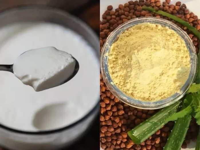 beauty tips benefits of curd and besan mask for hair growth in marathi