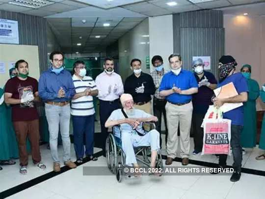 103-year-old patient discharged after beating coronavirus in Thane