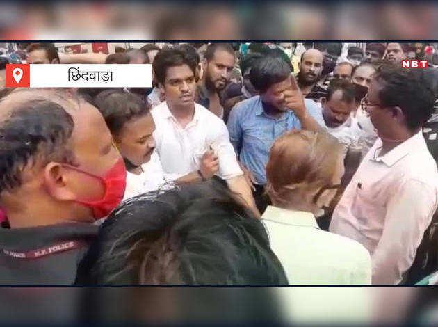 कांग्रेस नेता का वीडियो वायरल, शहर में आग लगाने की दे रहा है धमकी