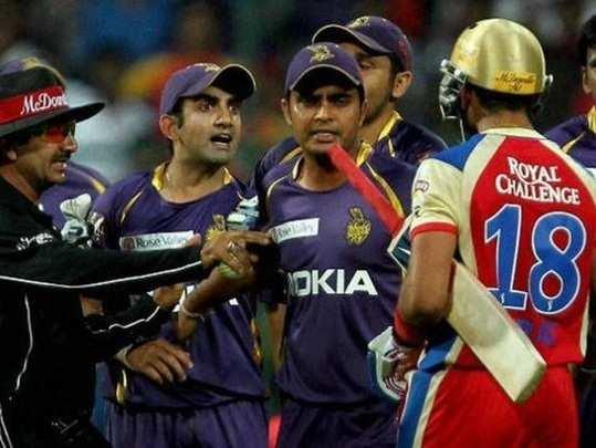 Gautam Gambhir and Virat Kohli IPL