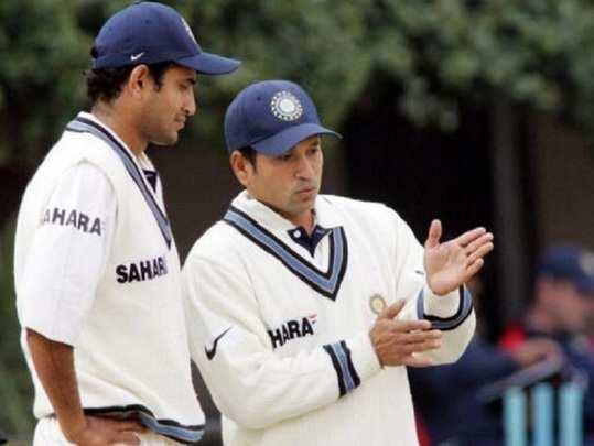 Irfan Pathan and Sachin Tendulkar test
