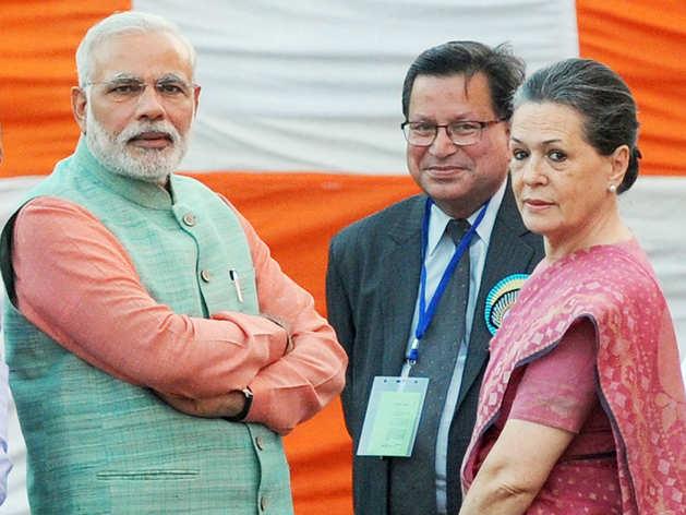पीएम मोदी और सोनिया गांधी (फाइल फोटो)
