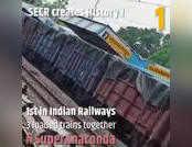 देखें, रेलवे ने पटरी पर दौड़ाया 'सुपर एनाकोंडा'